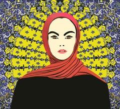 Amina, Mixed Media on Canvas