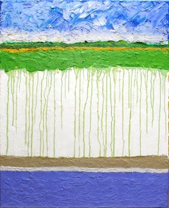 Green Rivulets, Painting, Oil on Canvas