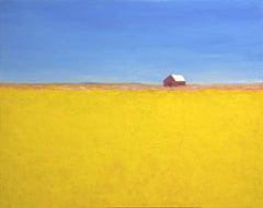 San Luis Obispo Barn, Painting, Oil on Canvas