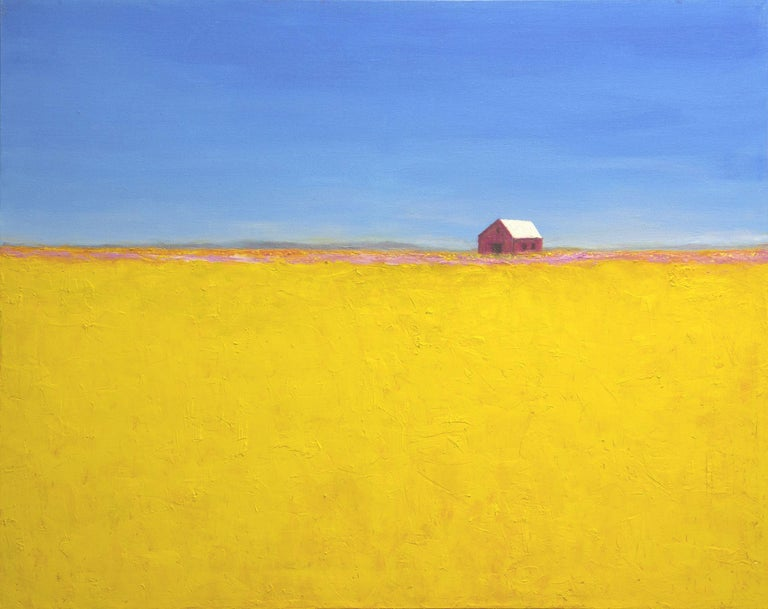 I passed this barn over the years in so many seasons and it seemed just to glow on this particular fall day. Just could not resistant painting it. :: Painting :: Contemporary :: This piece comes with an official certificate of authenticity signed by