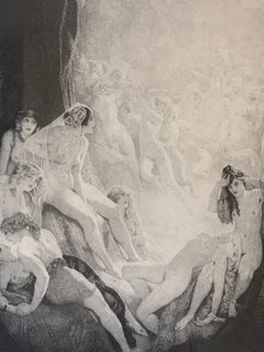 Norman Lindsay, Virginity, Etching on Paper framed