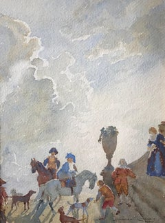 The Castle, Signed Watercolour painting by Norman Lindsey