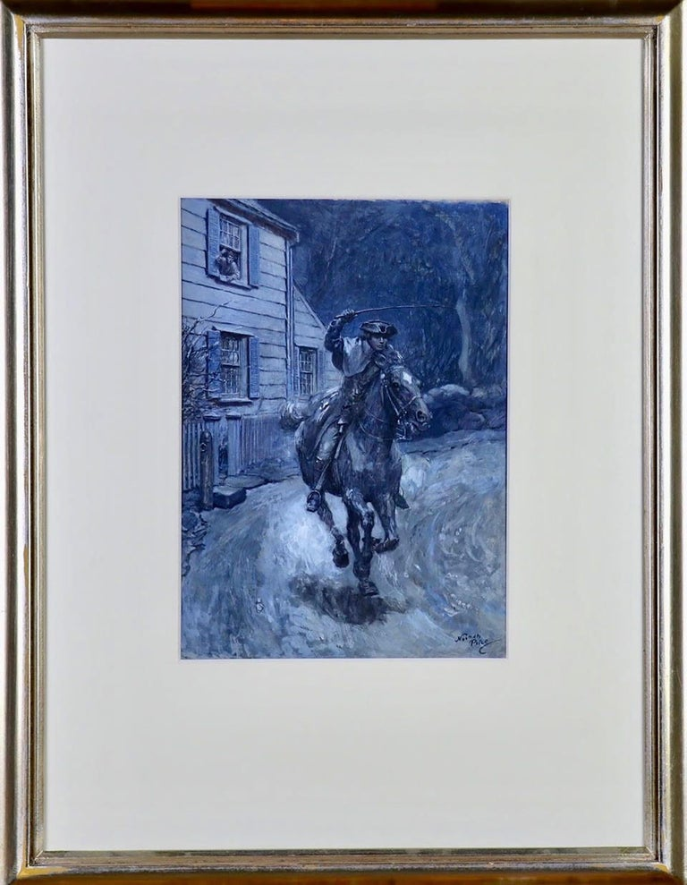 Paul Revere Riding on Horseback - Painting by Norman Price