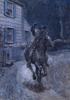 Paul Revere Riding on Horseback