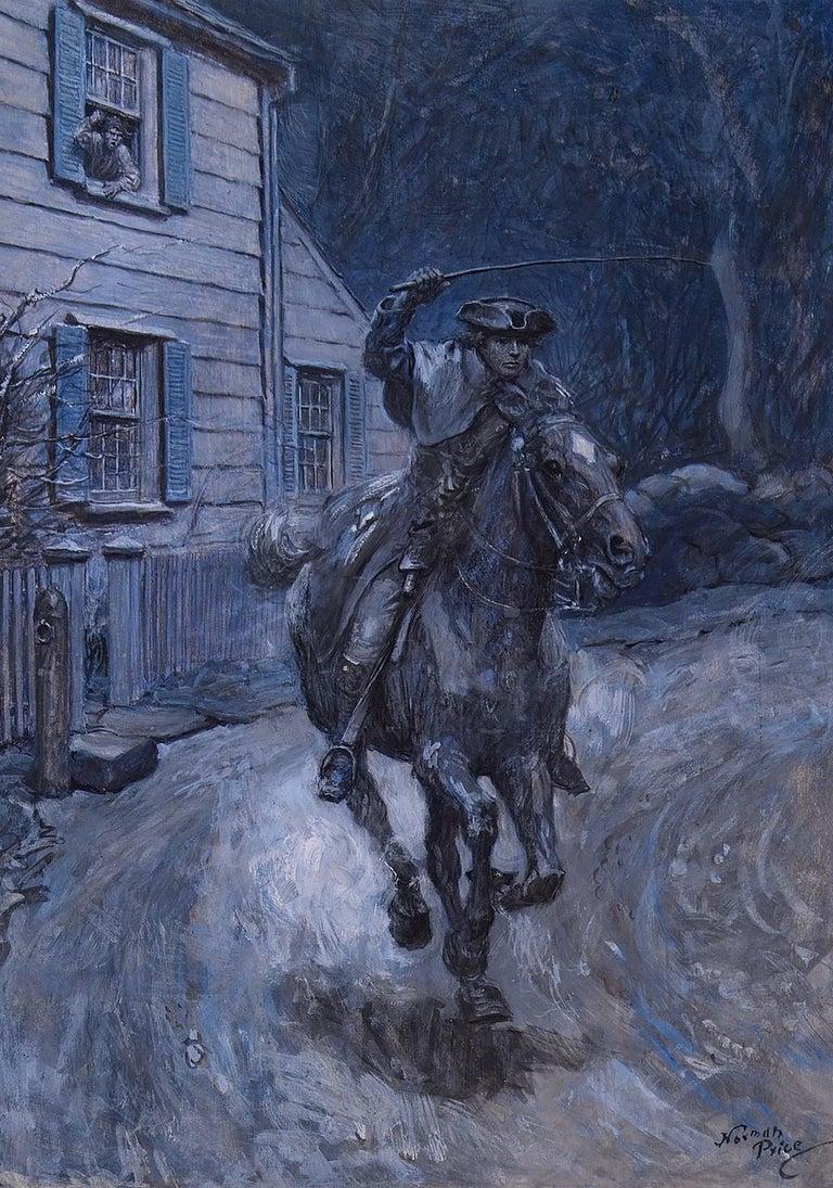 Norman Price Animal Painting - Paul Revere Riding on Horseback