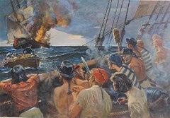 Pirates Destroying Ship