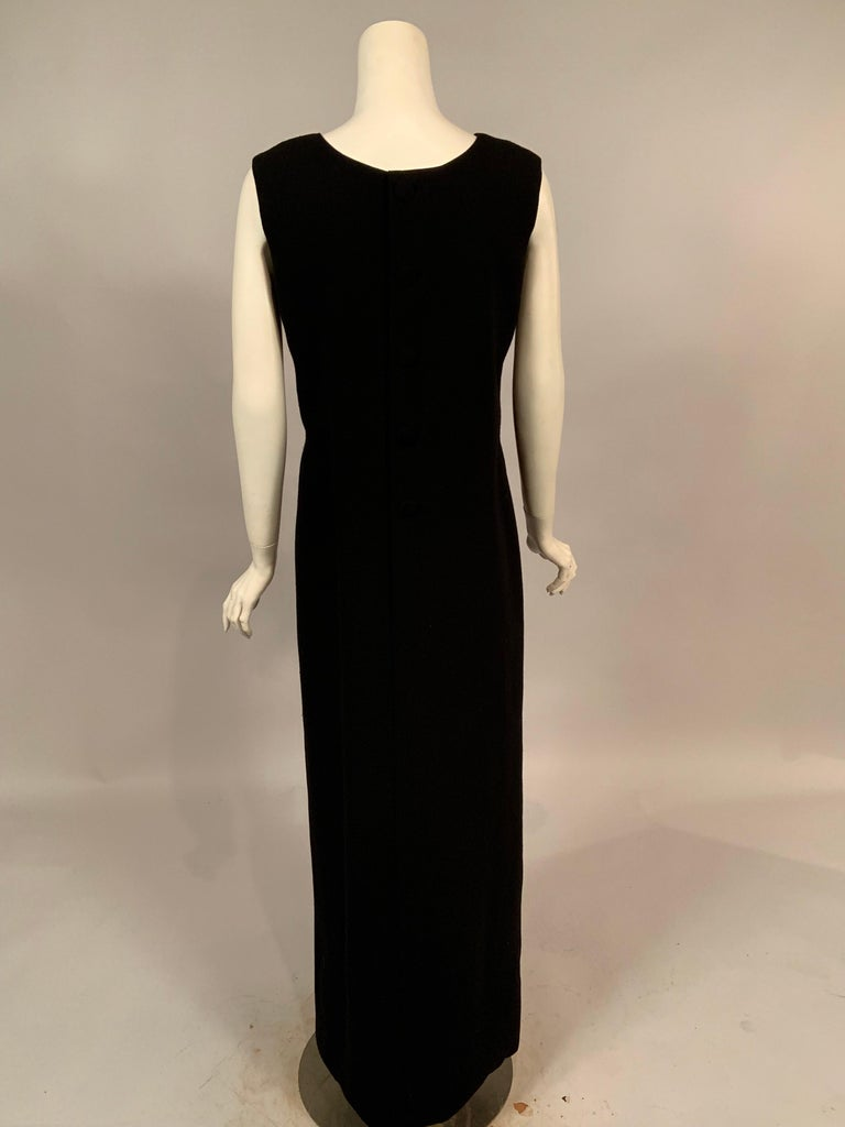 Norman Norell 1960's Classic Black Wool Crepe Evening Dress with Empire Waist 1