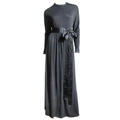 Norman Norell Attributed Empire Maxi Dress 1960s