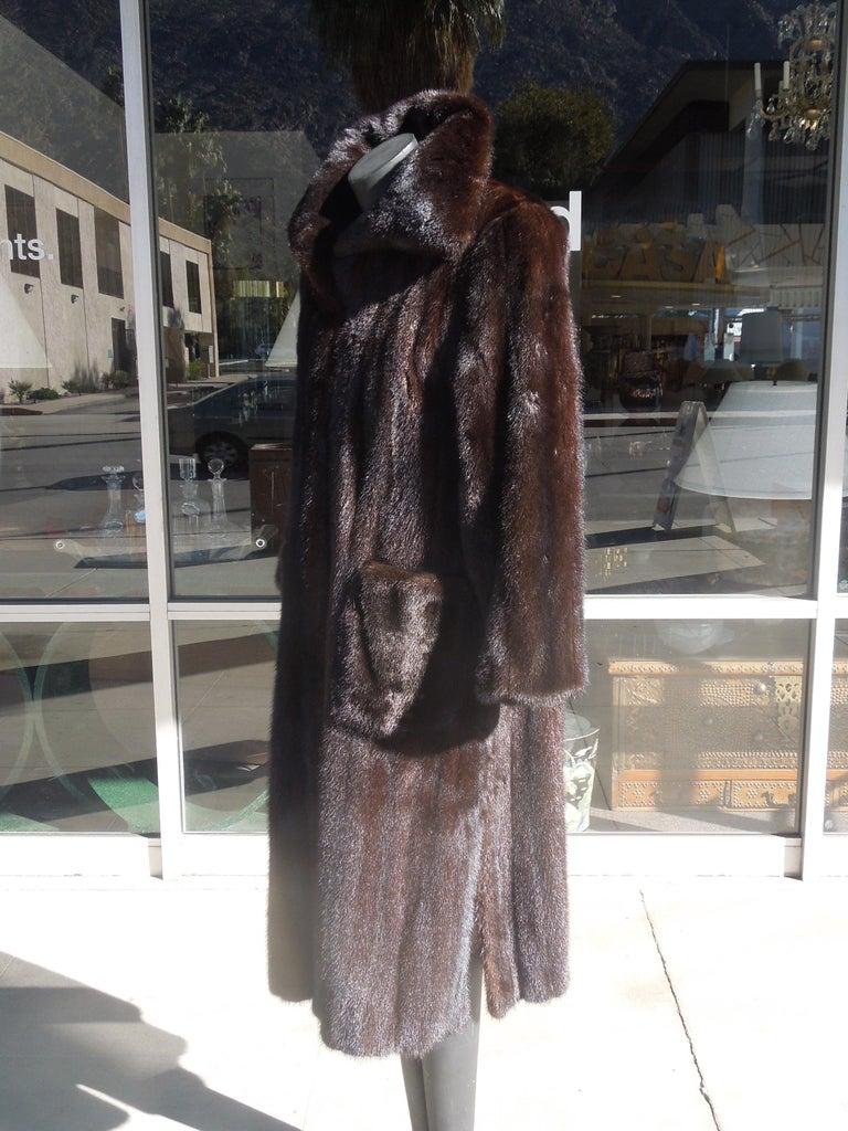 Modern Norman Norell Blackglama Mink Coat For Sale