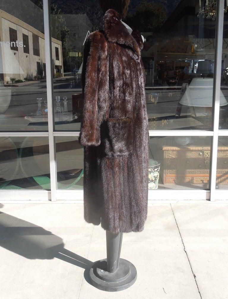 American Norman Norell Blackglama Mink Coat For Sale