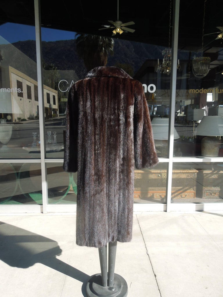 Hand-Crafted Norman Norell Blackglama Mink Coat For Sale