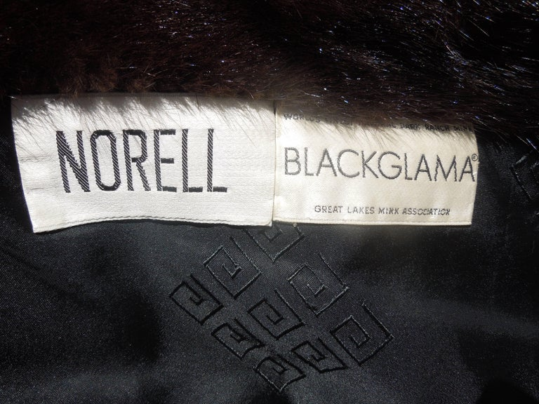 Norman Norell Blackglama Mink Coat In Good Condition For Sale In Palm Springs, CA