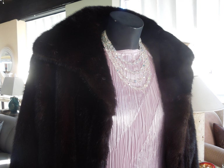Late 20th Century Norman Norell Blackglama Mink Coat For Sale