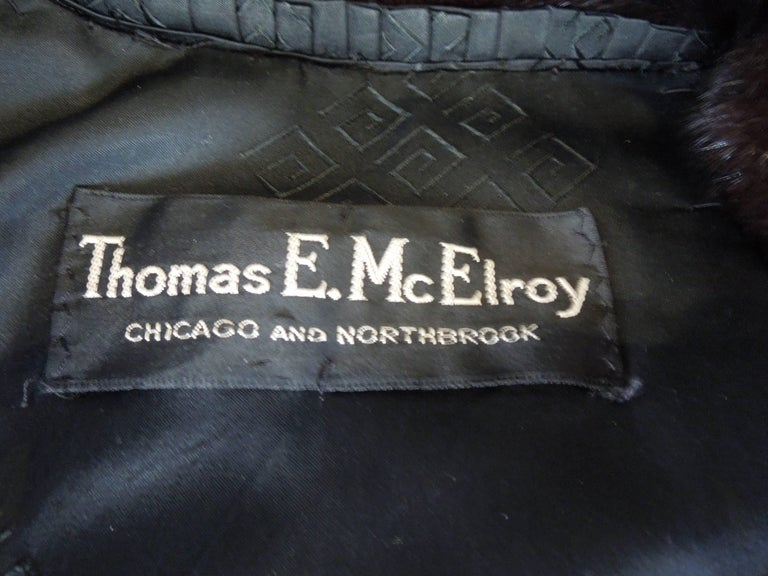Norman Norell Blackglama Mink Coat For Sale 1