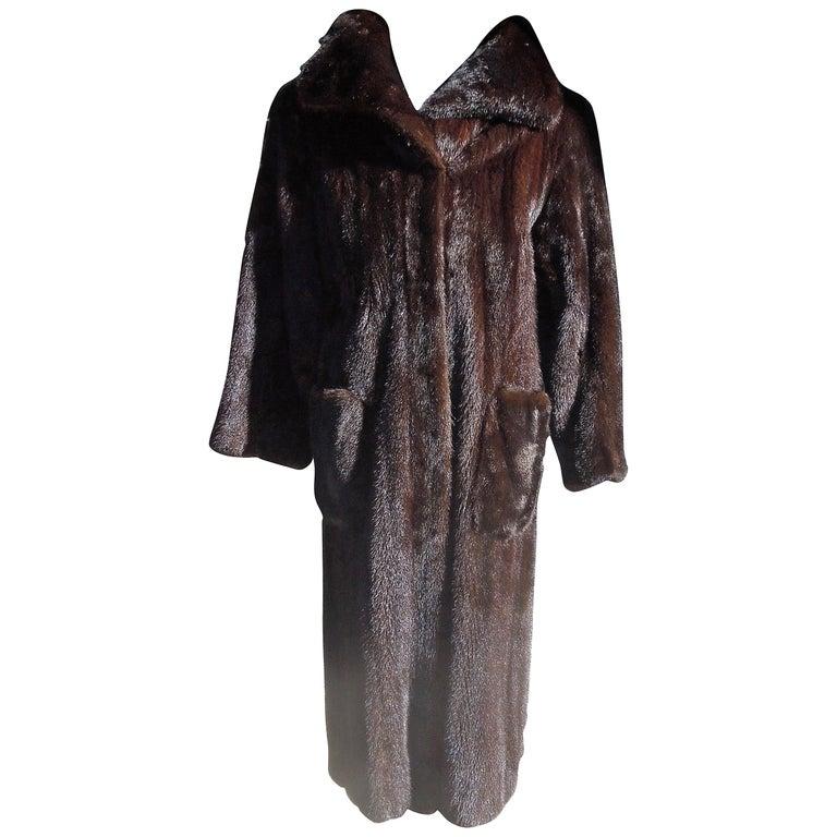 Norman Norell Blackglama Mink Coat For Sale