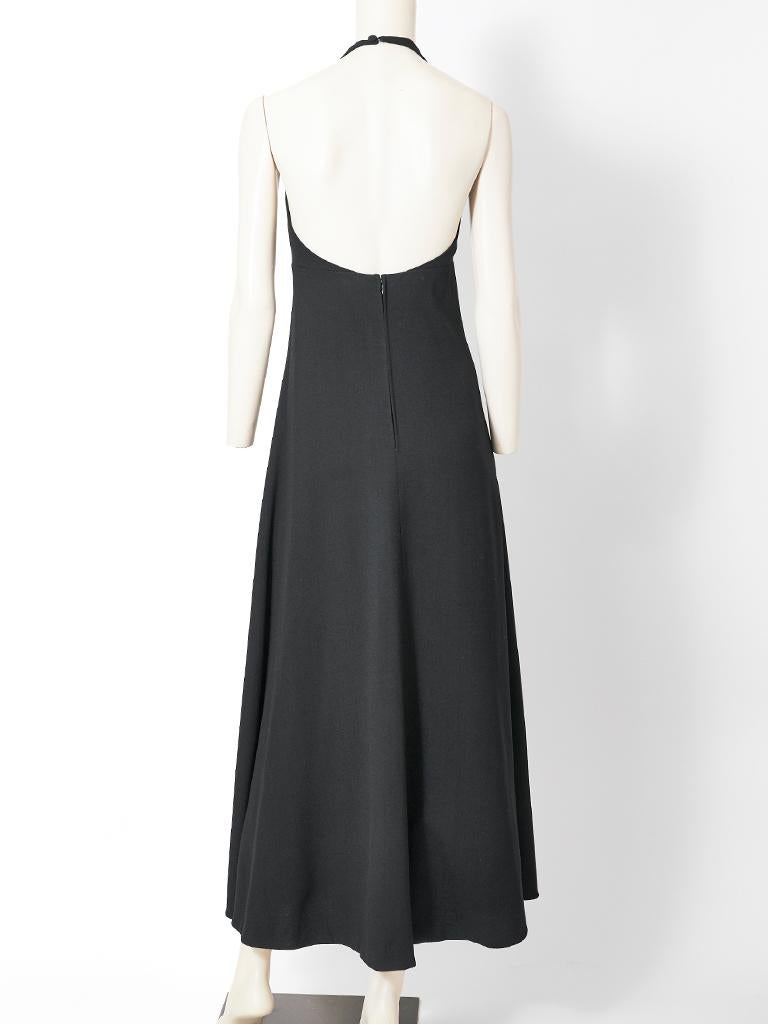 Norman Norell Crepe Halter Neck Gown In Good Condition For Sale In New York, NY