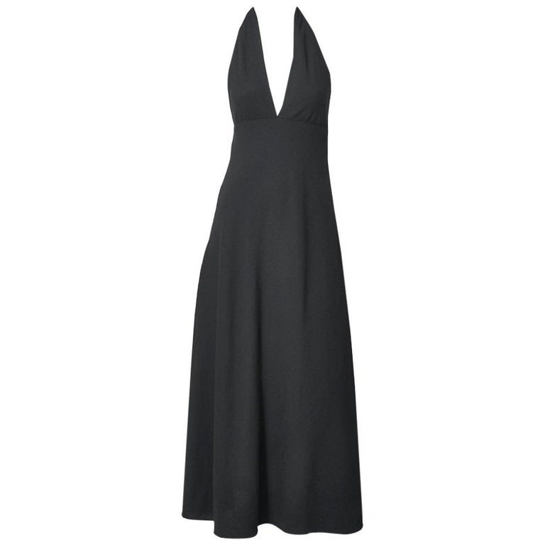 Norman Norell Crepe Halter Neck Gown For Sale