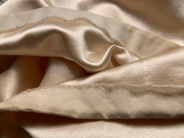 Norman Norell Elegant Cream Satin Evening Dress or Coat Dress Never Worn  For Sale 5