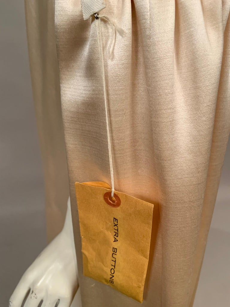 Norman Norell Elegant Cream Satin Evening Dress or Coat Dress Never Worn  For Sale 7