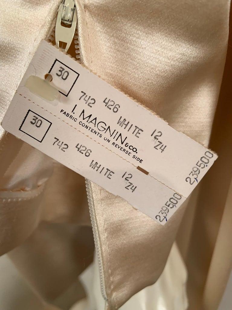 Norman Norell Elegant Cream Satin Evening Dress or Coat Dress Never Worn  For Sale 8