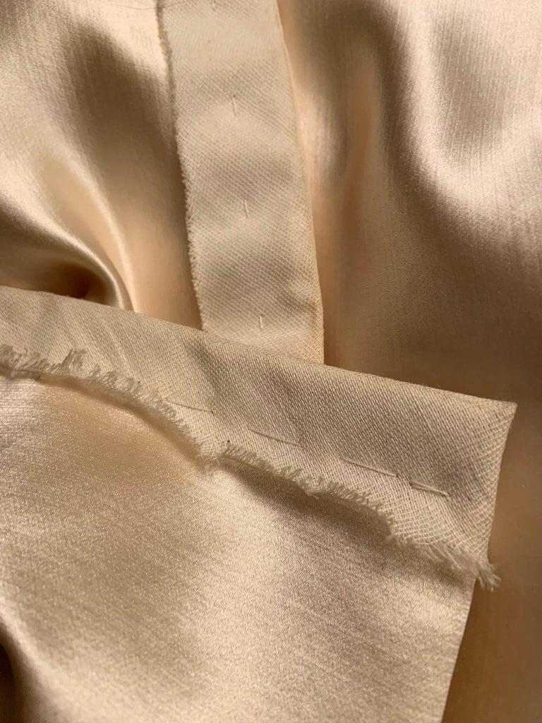 Norman Norell Elegant Cream Satin Evening Dress or Coat Dress Never Worn  For Sale 3