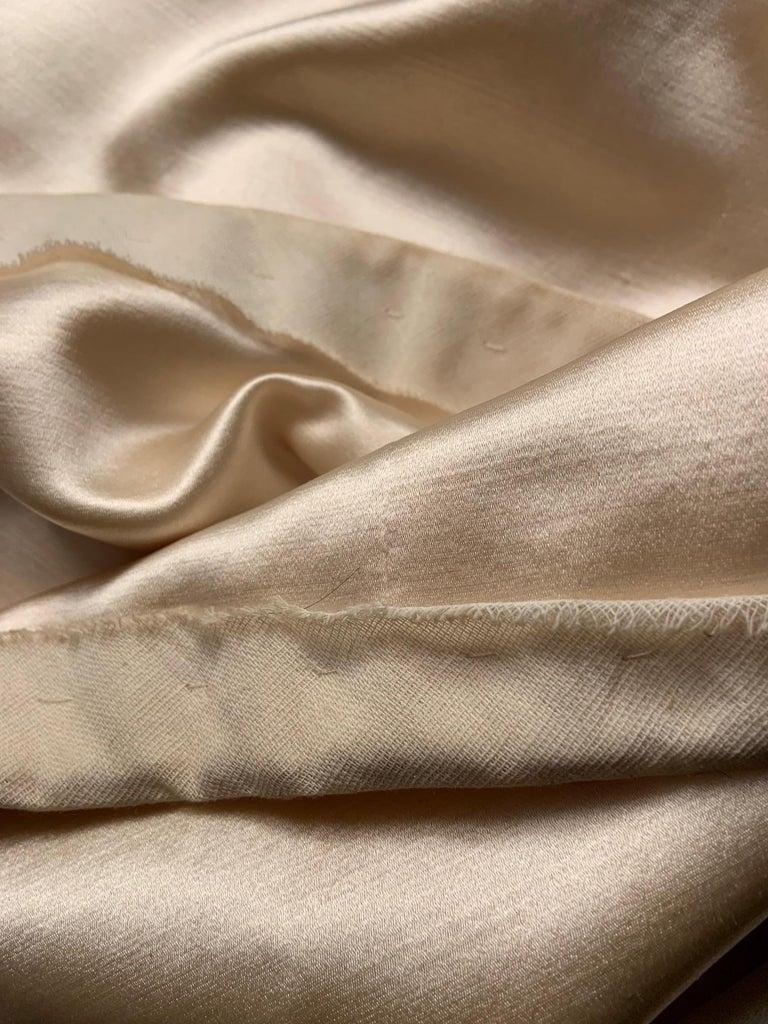 Norman Norell Elegant Cream Satin Evening Dress or Coat Dress Never Worn  For Sale 4