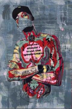 Timekeeper 58 - 21st Century, Street Art, Figurative Print by Norman O'Flynn