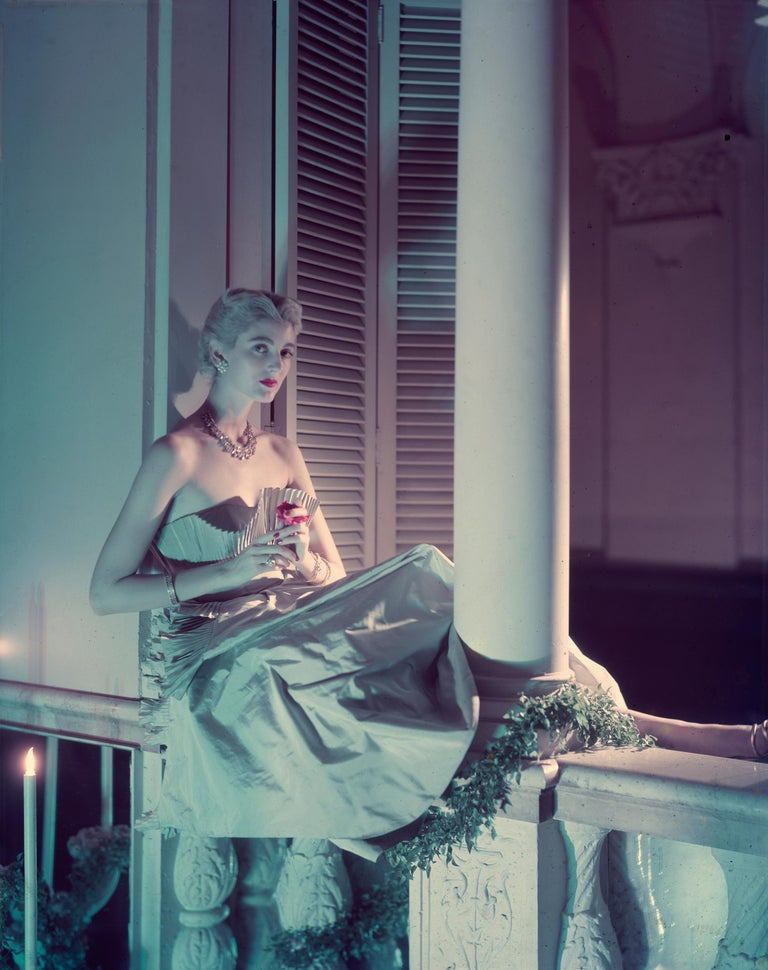 Carmen Dell'Orefice, Vogue - Norman Parkinson (Colour Photography) - Gray Color Photograph by Norman Parkinson