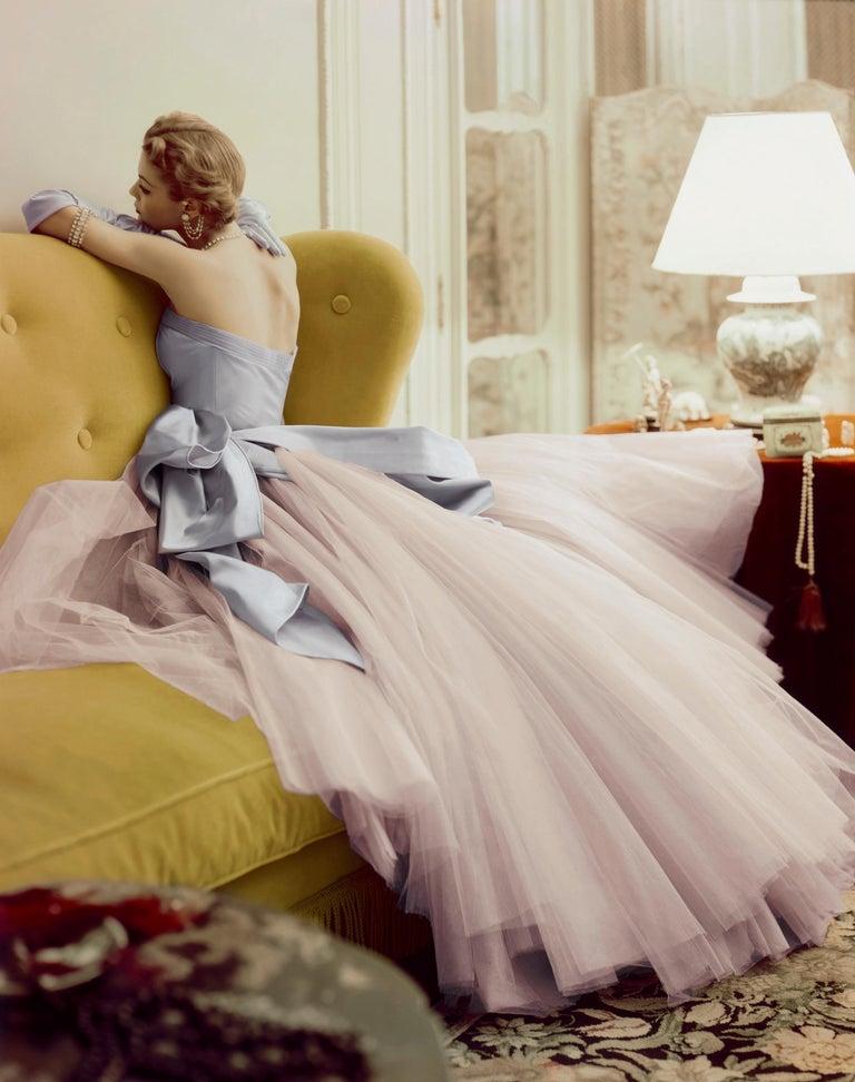 Jean Patchett, Vogue - Norman Parkinson (Colour Photography) - Beige Color Photograph by Norman Parkinson