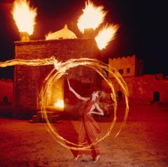 Jerry Hall at the Hindu fire temple at Baku, Azerbaijan