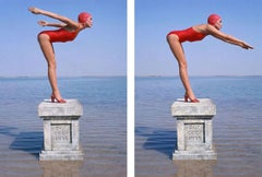 Jerry Hall Dive (Diptych)