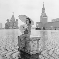 Jerry Hall, Vogue Russia, Red Square