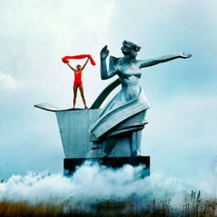 Jerry Hall Vogue Russia, Statue of Thamar