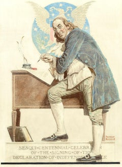 Ben Franklin's Sesquicentennial, The Saturday Evening Post cover