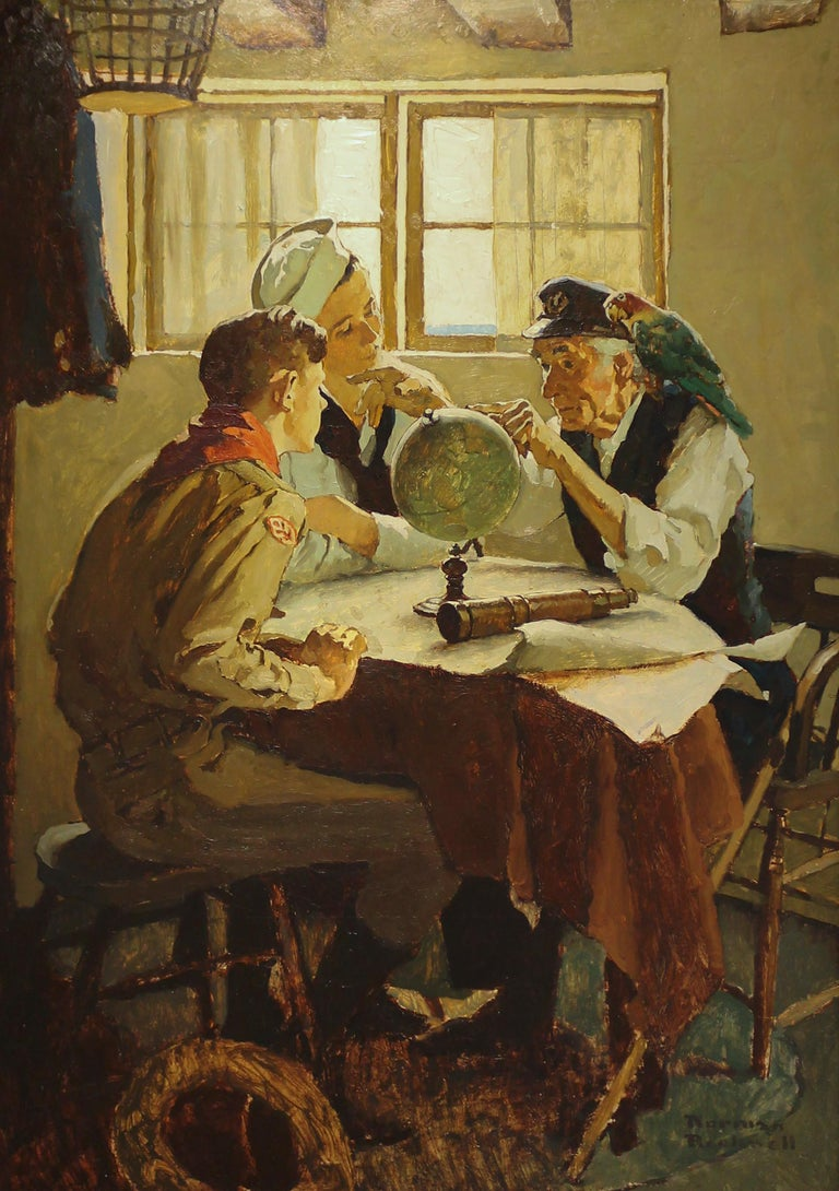 Norman Rockwell Study For Quot Scouts Of Many Trails Quot For