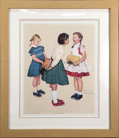 1972 Norman Rockwell 'Missing Tooth' Offset Lithograph Framed