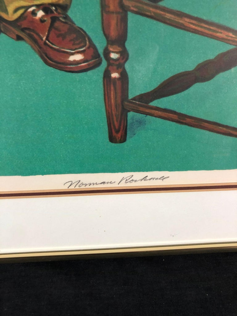 Can't Wait - American Realist Print by After Norman Rockwell