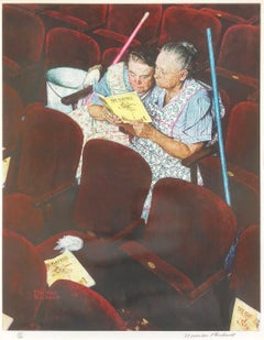 Charwomen in Theater