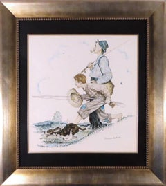 """""""Gramps and Me Go Fishing"""" Limited Edition Lithograph (F 80/100) with COA"""