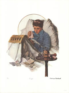 """NORMAN ROCKWELL The Cold 27"""" x 20"""" poster Neutral, Brown, Black"""