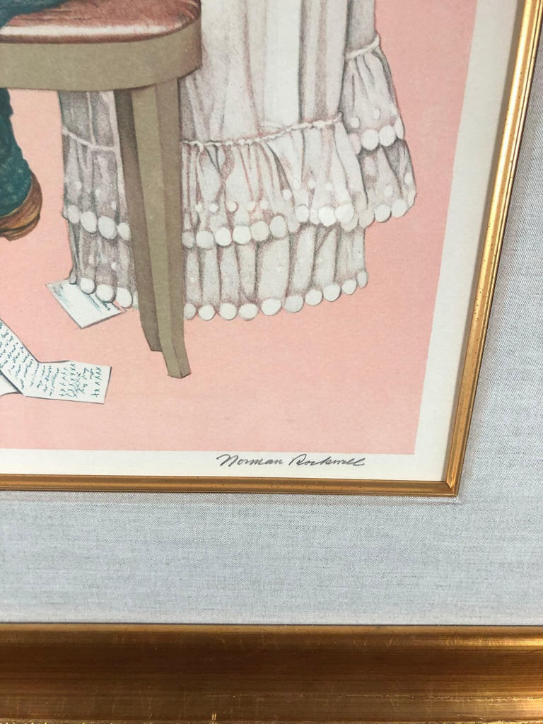 After the Painting of Secrets (Sister's Diary)  - American Modern Print by After Norman Rockwell