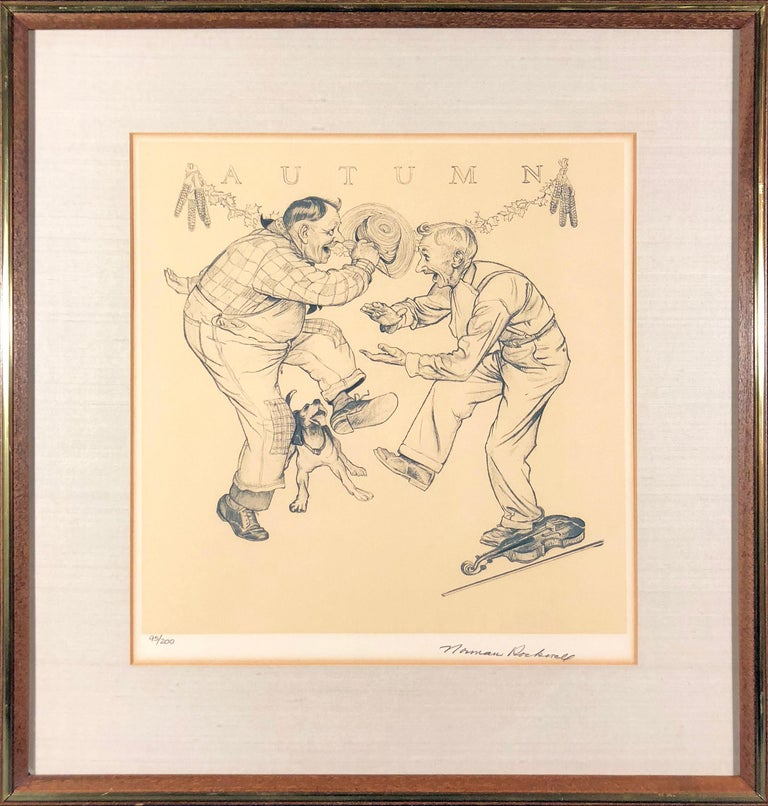 The Four Seasons Suite (Hand-Signed & Numbered) - American Realist Print by Norman Rockwell