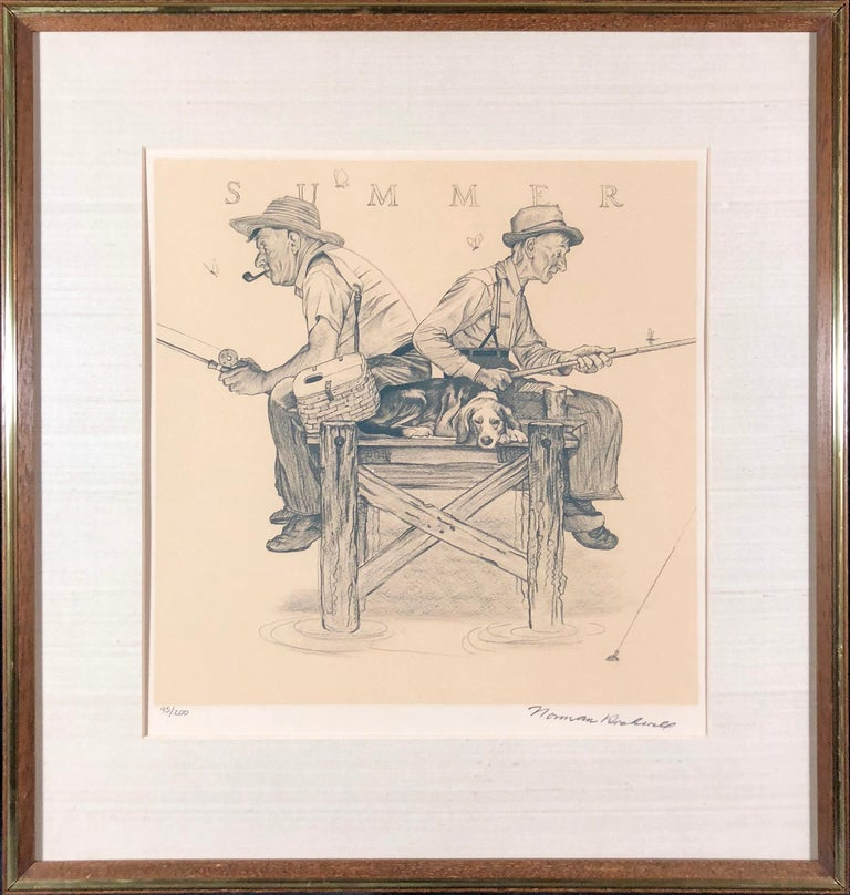 Norman Rockwell Figurative Print - The Four Seasons Suite (Hand-Signed & Numbered)