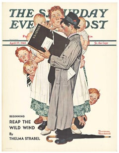 U. S. Census Saturday Evening Post original 1940 vintage poster