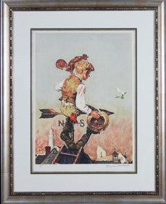 Under Sail original lithograph by Norman Rockwell