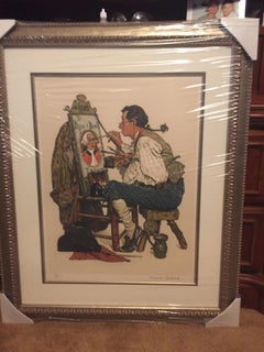Ye Pipe & Bowl - Limited Edition Lithograph by Norman Rockwell