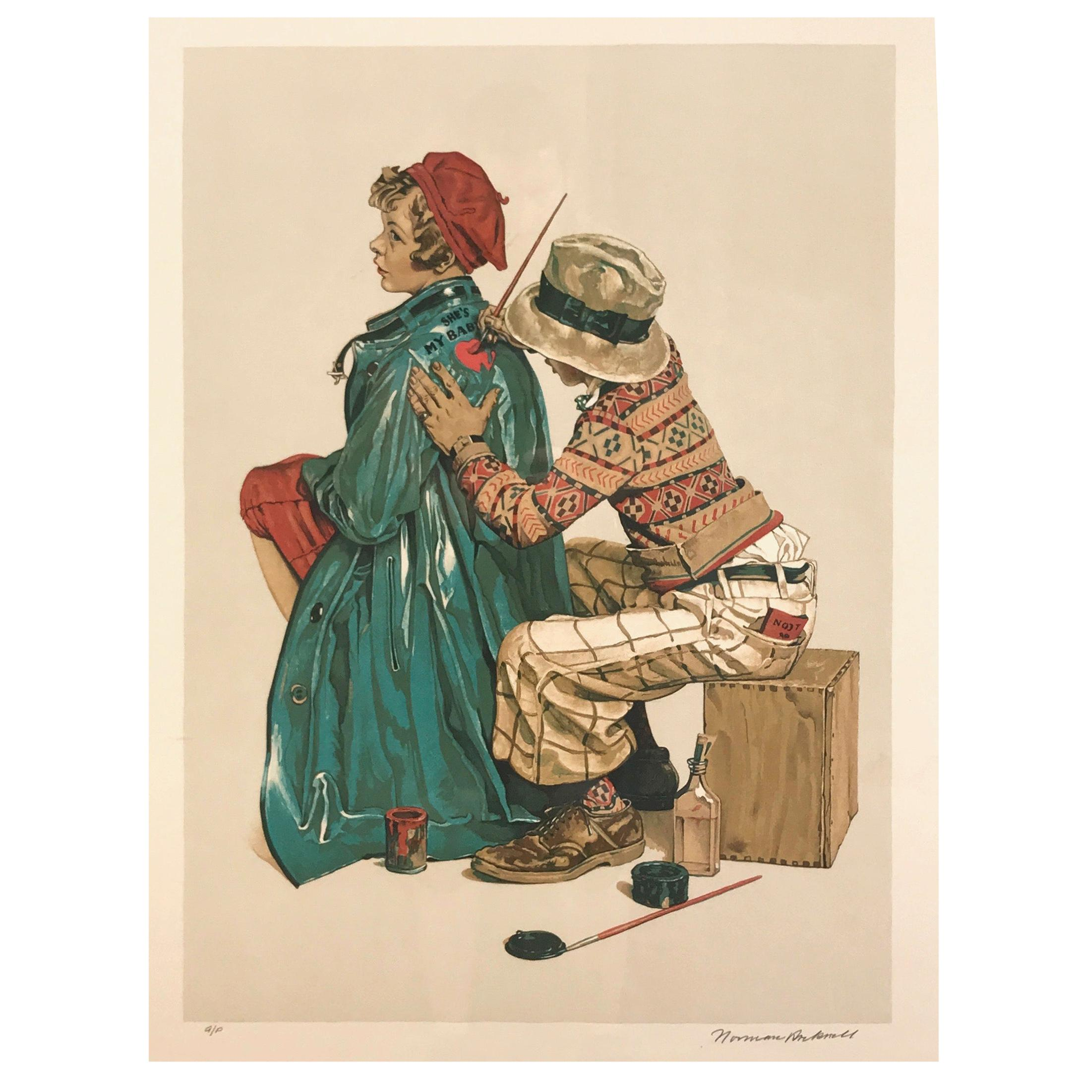 """Norman Rockwell """"The Young Artist"""" Framed Lithograph, Signed Artist's Proof"""