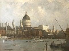 The City   London Landscape  British 20th Century  RA Artist  Oil Painting