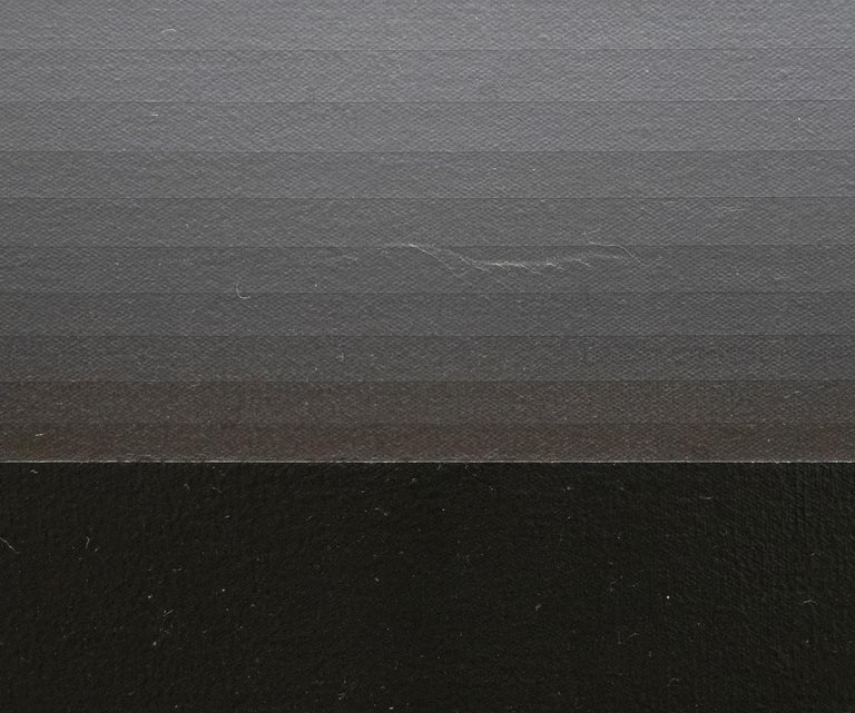 East Wall - Gray Abstract Painting by Norman Zammitt