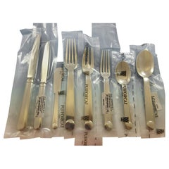 Normandie by Puiforcat French Silverplate Flatware Set 12 Service 100 Pcs New